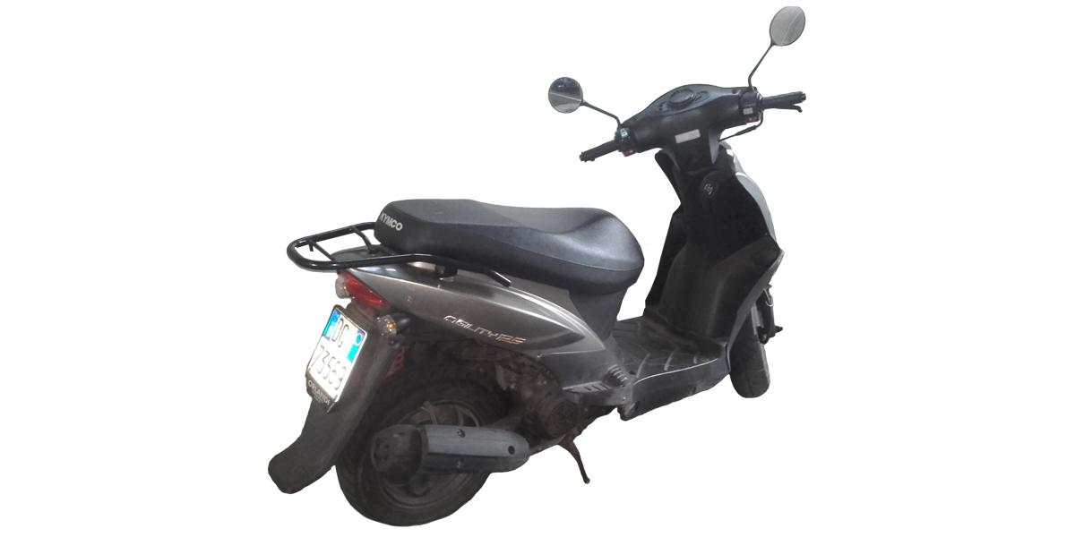 Scooter Kymco, per patenti A1 automatiche;